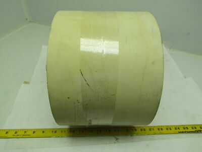 "4-Ply White Conveyor Belt Smooth Top 8"" Wide 56' Long"