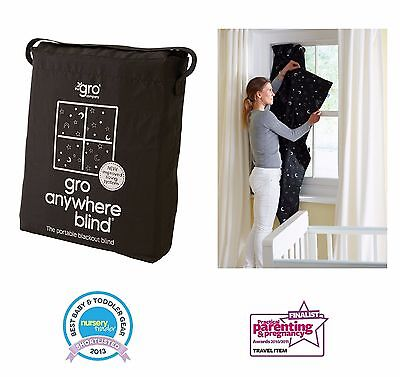 Gro Anywhere Blackout Blind Curtains Window Portable Travel Magic Brand NEW Gift