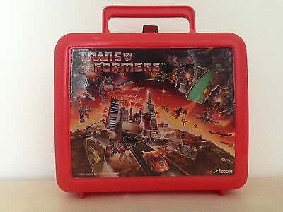 Vintage 1986 Transformers Lunchbox