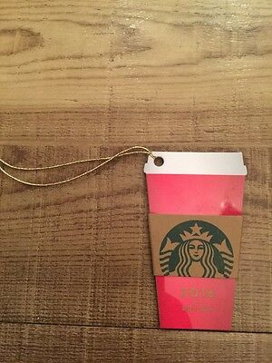 Starbucks Card Red Cup Christmas Keyring Collectors Gift Loyalty UK 2016 Edition