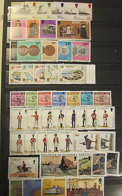 Nice Lot Of All Mint Nh Jersey And Guernsey Stamps With Postage Dues