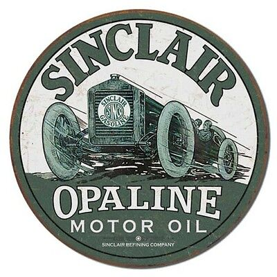 Sinclair Gas Motor Oil Race Car Garage Repair Shop Picture Metal Ad Sign Gift