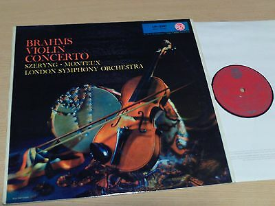 Brahms - Violin Concerto - Szeryng - Monteux - Lp - Rca Red Seal Lm-2281 Rotes