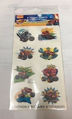 Blaze and the Monster Machines Tattoos, Party Loot bag fillers,1 sheet 8 squares
