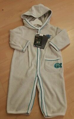 Splash About Apres All In One Towelling Bath Robe. 6-12 mths - Turquoise