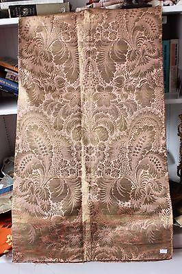 Stunning 18thC (1700s) Silk & Gold Metallic French Antique Brocade Fabric
