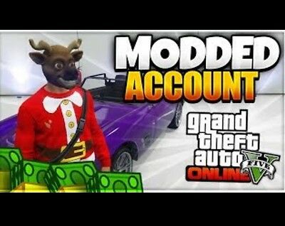 GTA 5 Modded Account (PS3,PS4,XB1,PC) **TRANSFER BYPASSED**