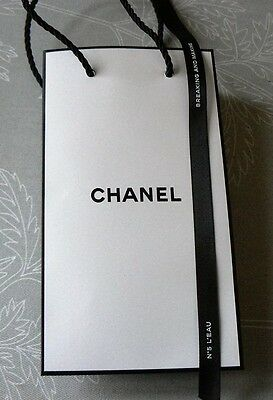 Chanel  Gift Bag with Black Chanel Ribbon