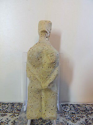Antique Stone Figure statuette,mother godess,fertility,humanoid alien,idol