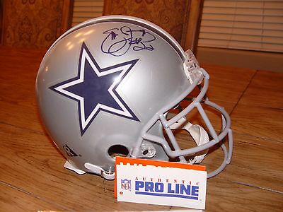Emmitt Smith Autographed/signed Dallas Cowboys Riddel Pro Line Helmet