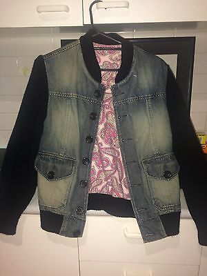 Denim Jacket With Paisley Design Unisex Mens Womens COMBINED SHIPPING