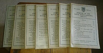 7 Journals Of The Royal Horticultural Society Part 7-12 1964