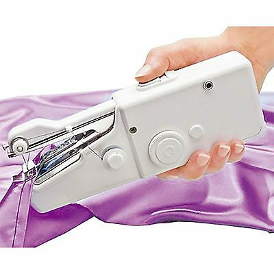 New Portable Mini Handheald Home Travel Battery/mains Operated Sewing Machine