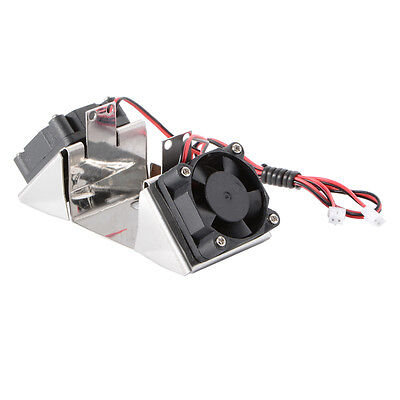 UM2 Ultimaker 2 Hot End Dual Fan Bracket with 12V Mini Cool Fans Stainless TE529