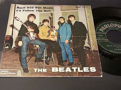 """The  Beatles 7"""" Rock And Roll Music /i'll Follow The Sun Parlophon Italy 1964"""