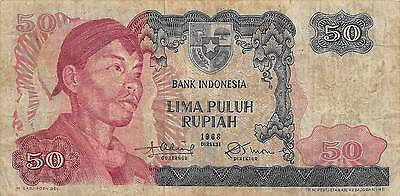 Indonesia  50 Rupiah  1968  ** Replacement ** circulated Banknote A30S