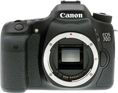 Canon EOS 70D  Digital SLR Camera Body Only 20.2 MP 1080p HD * BRAND NEW*