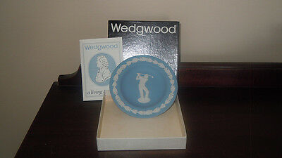 ©1983 Wedgewood Golfer-Round Tray-J1000  3632-Made In England