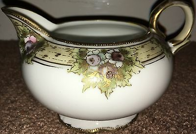 Noritake Jug Hand Painted And Gilded Lilac Flower