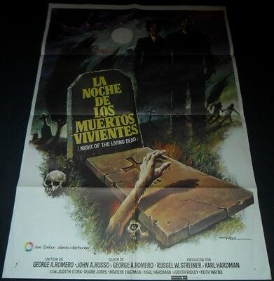 1968 Night of the Living Dead ORIGINAL SPAIN POSTER George A. Romero ZOMBIE