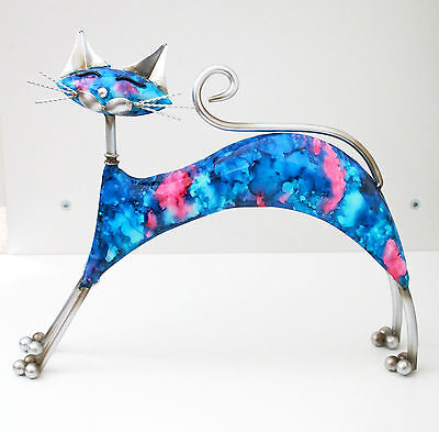 Handcrafted Metal Cat Dog Dragonfly Figurine Statue Home Decoration Gift Idea