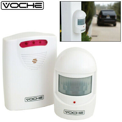 Wireless Pir Motion Sensor Driveway Garage Security Intruder Alert Alarm System