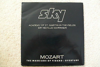 "SKY Mozart Marriage of Figaro St Martin Sir Neville Marriner 7"" Promo Rare 1987"