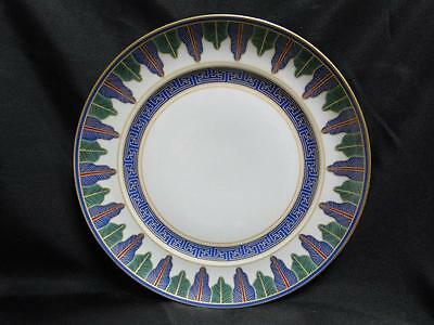 """Mottahedeh Charleston Feather, Blue & Green, Gold Trim: Dinner Plate (s) 10 1/8"""""""