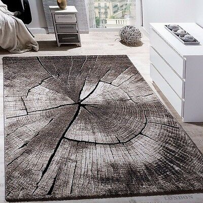 Modern Rug Living Area Rugs Wooden 3D Effect Soft Pile Small Large Quality Mats