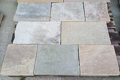 Reclaimed Yorkstone paving @ £90yrd2 plus vat.