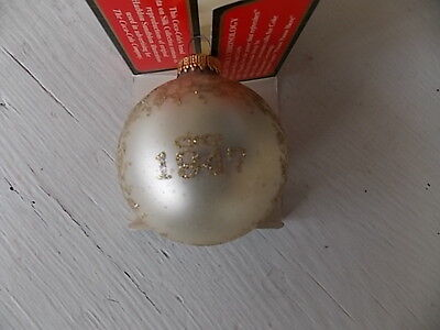Trim a Tree Collection ornament- COKE/ COCA COLA-Circa 1947- GLASS & SILK