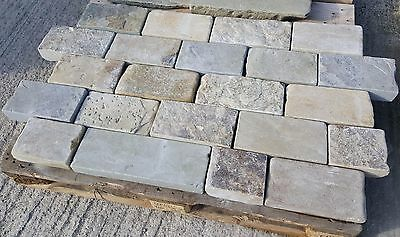 Reclaimed Yorkstone setts @ £50yrd2 plus vat.