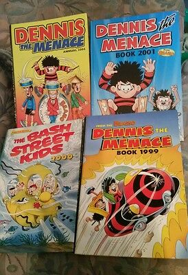 Set of  5 hardback Beano and Dennis the Menace annuals.  1988 - 2004.