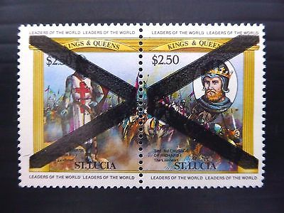 St LUCIA 1984 $2.50 Unissued Design with Official Obliteration FP8609
