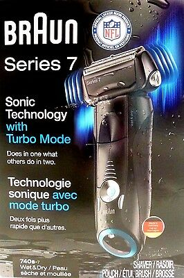 Braun, Series 7, Shaver, Sonic Technology W/Turbo Mode 740s-7, Used, Free Ship