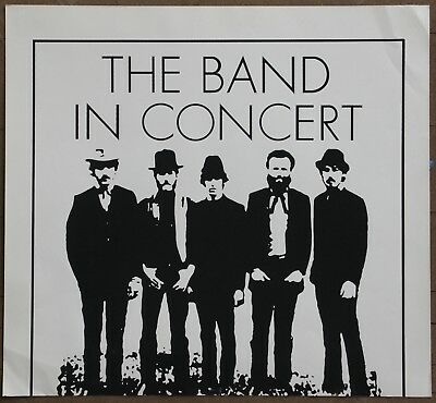 The Band In Concert Vintage Original Silkscreened Promo Poster