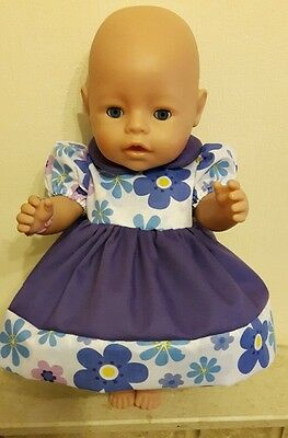 Dolls Clothes Handmade Foral Dress To Fit Baby Born/baby Annabell
