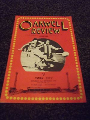 Oakwell Review Programme (Rare) 02/09/1978