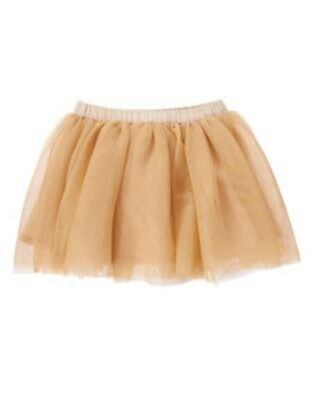 Gymboree All Spruced Up Gold Sparkle Tutu Tulle Skirt 2T Nwt