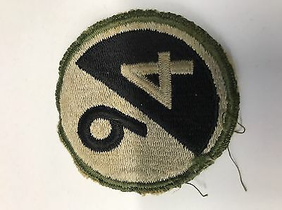 Original WWII 94th Infantry Division Patch Off Uniform