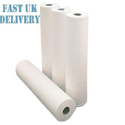 "1 x Paper Roll 20"" 40M WHITE Hygiene Beauty Salon Massage Couch Table Bed Cover"