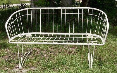 No Rsrv-Midcentury Mod  Homecrest Wire Settee Or Bench-Very Good Cond. Eames Era