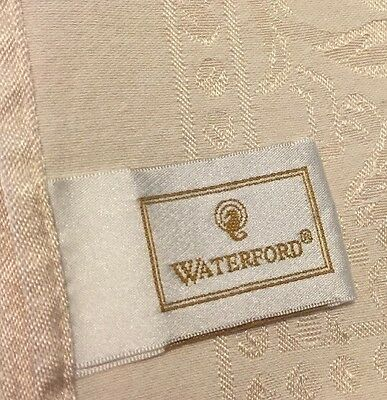 "Vintage Waterford Linens Ivory Rectangular Tablecloth 82"" x 58"" & 4 Napkins 18"""