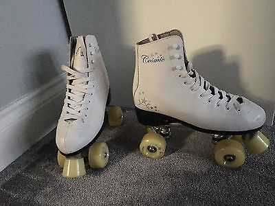 SFR Cosmic Quad Skates / Rollers Skates White UK 7