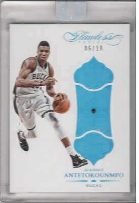 2015-16 Giannis Antotokounmpo Flawless Encased Sapphire Ssp #6/10
