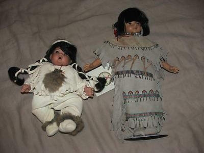 Native American Sandy Doll Lot Excellent Condition Princess Bright Sky Thumb