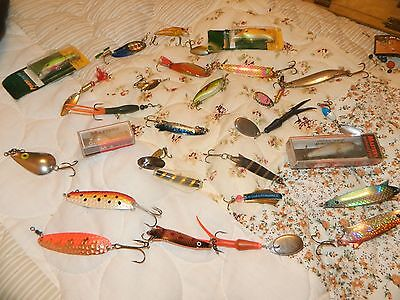 Job Lot of Trout Fishing Tackle Lures Spinners 29 in Total including Abu Garcia