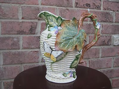 "FITZ AND FLOYD CLASSICS COLLECTION PITCHER 10"" Tall VASE MULTI COLOR"