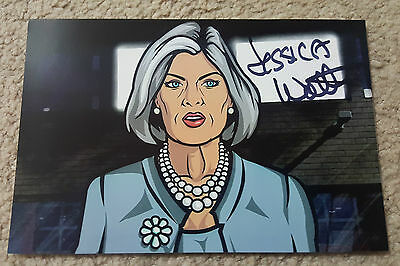 Jessica Walter Autograph Signed Photograph Usa Mallory Archer Mom Voice Actress