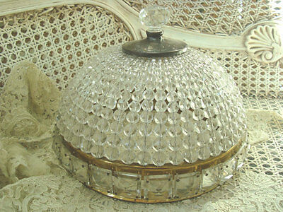 Spectacular Vintage X-Large Beaded Dome Ceiling Fixture Light